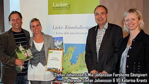 Årets turistföretagare i Läckö Kinnekulle 2011